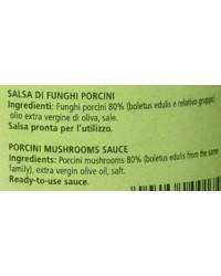 Salsa ai funghi porcini italiana natura norcia in tavola